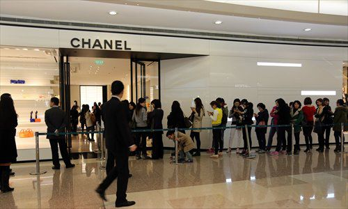 Lines outside China Chanel http://www.globaltimes.cn/content/913074.shtml