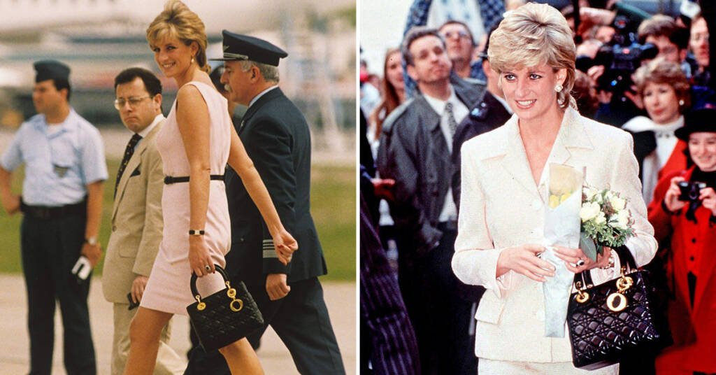 Diana with Lady Dior Bag