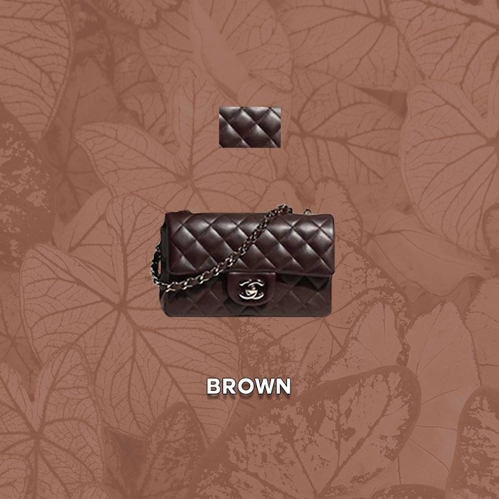Chanel Classic Flap Colors for 21A dark Brown